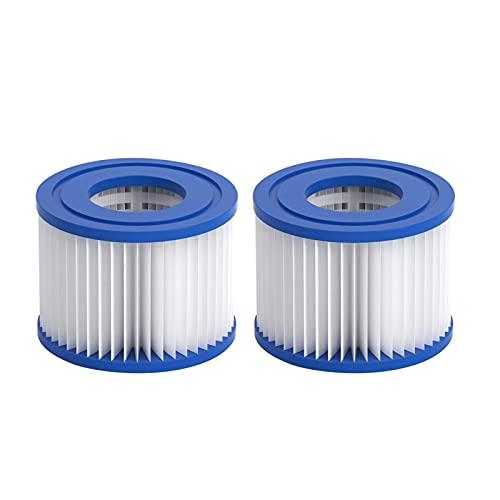 Chrty Filtro de spa para piscina, filtro de piscina, cartucho de repuesto para piscina, filtro de piscina, para limpieza de piscinas