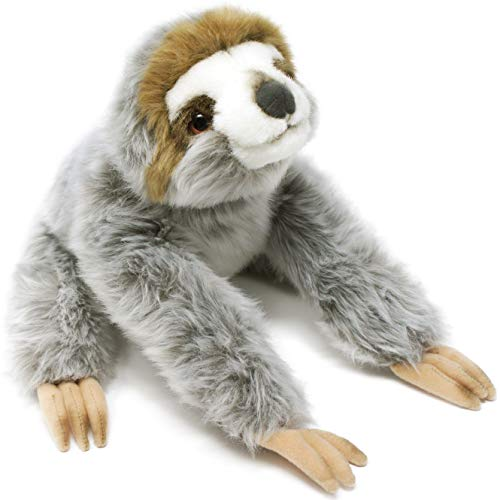 Siggy The Threetoed Sloth Baby - 12 Inch Large Madagascar Sloth Stuffed Animal Plush - by Tiger Tale Toys