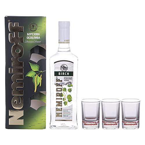Nemiroff Nemiroff BIRCH Flavoured Vodka 40% Vol. 0,7l in Giftbox with 3 Shotgläsern - 700 ml