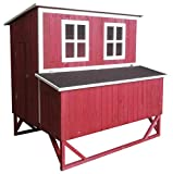 Omitree Large Wood Backyard Chicken Coop Hen House 4-8 Chickens w 4 Nesting Box New