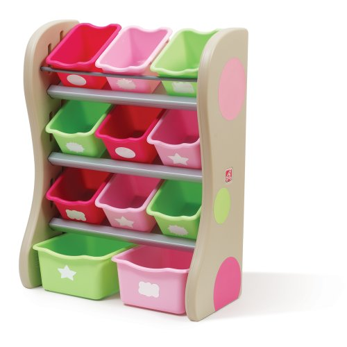 Step2 Room Organizer and Toy Storage Fun Time, Pink