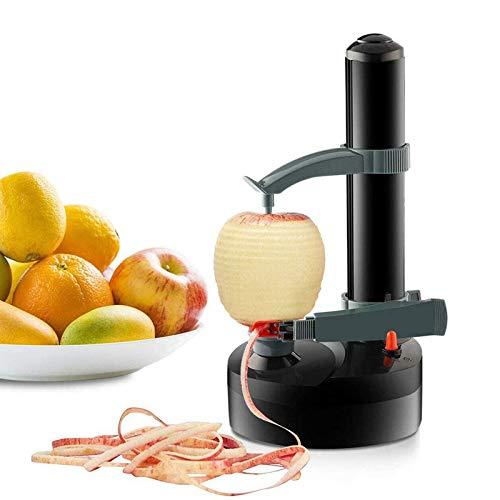 Electric Peeler, Automatic Potato Peeler with 2 Extra Blades & 1pcs US Power Plug, Rotating Fruits Peeler Vegetables Cutter Kitchen Peeling Tool (Black)
