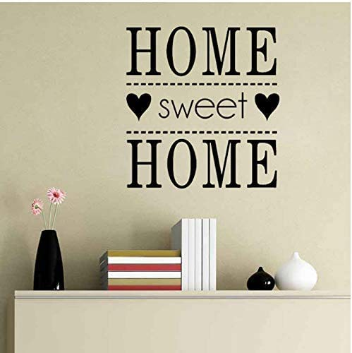 Funny Family Sweet Home Vinilo Decorativo Pvc Vinilo 58X62Cm
