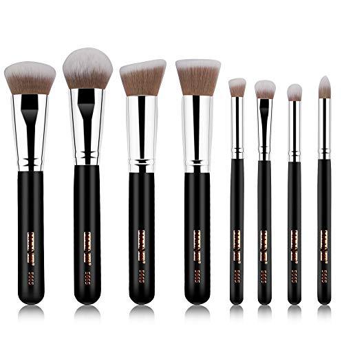 Beauty-Tools,Momoxi 8Pcs Makeup Brushes Powder Foundation Eyeshadow Eyeliner Lip Cosmetic Brush Holzgriff, farbiges Faserhaar, Mascara, Augenbrauenstift, Eyeliner, Valentinstag, Freundin