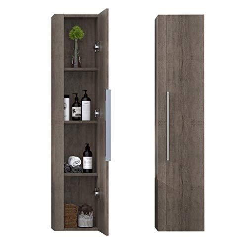 Wandkasten Badkamer massief houten opbergkast Multi-layer opbergkast voor geneesmiddelen Wandgemonteerde toiletkast Spiegelkast met grote capaciteit