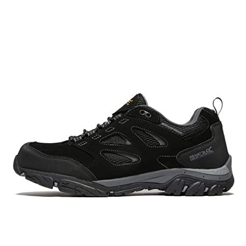 Regatta Holcombe Iep Low, Walking Shoe Mens, (Black/Granite 9v8), 9 EU