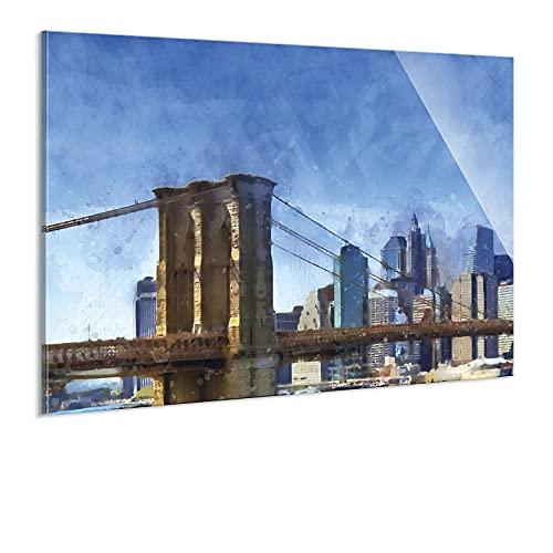 Wandbild auf Acrylglas von bilder.de, Sehenswürdigkeiten, Städtetrip, abstraktes Design, Kunstdruck auf Plexiglas, ohne Rahmen, 30x20, Deko für Wohnzimmer & Schlafzimmer, modern, stilvoll