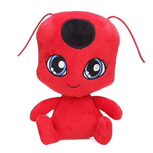 Levin_Art Plagg und Tikki Plüsch Puppe Anhänger Schlüsselanhänger Marienkäfer Katze Noir Ladybug Adrien Marinette Weiche Stoffpuppen (1)