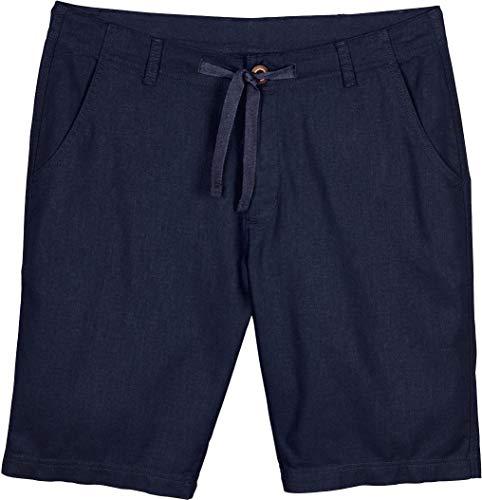Livergy® Herren Shorts aus Leinen Leinenshorts Sommerhose (Marine, Gr. 54)