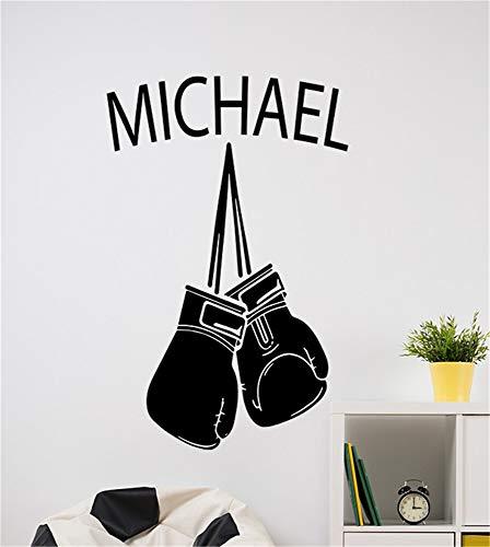 pegatinas de pared y murales Guantes de boxeo con nombre personalizado para...