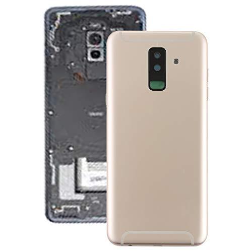 YICHAOYA batterij achterzijde-afdekking vervanging voor Samsung Galaxy A6 + (sterk en robuust) support afdekking met gezichtssleutel en cameralens voor Galaxy A6 (2018) / A605 (zwart), goud
