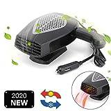 12V Car Heater Portable Fan Heater & Cooler Defrost Defogger Space Automobile 3-Outlet Plug Adjustable Thermostat