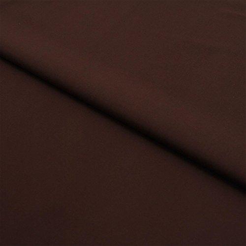 Hans-Textil-Shop Stoff Meterware Braun Baumwolle Linon (Einfarbig, Uni, Schadstoffgeprüft, Pflegeleicht, ca 140 g/qm, ca. 145 cm breit, 1 Meter)