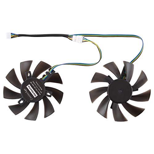 Ventilador de enfriamiento de reemplazo de computadora GFY09010E12SPA Ventilador de enfriamiento de tarjeta gráfica de 4 pines para Zotac GTX 1070 Mini GTX 1060 6GB GTX1060, Diámetro: 85 mm, Pares
