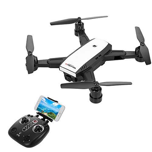 Goolsky LH-X28G Drohne für Anfänger, Mini RC-Quadrocopter mit 720P Kamera/faltbaren Armen,WiFi FPV/EIN-Tasten-Rückkehr/Höhe-halten/Follow me/GPS-Positionierung, einfach zu kontrollieren