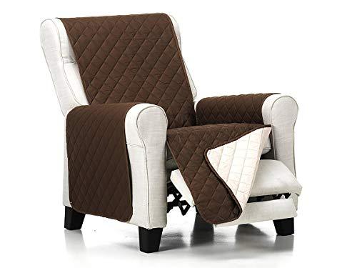 Lanovenanube Belmarti - Funda sillón Acolchado - Práctica - 1 Plaza - Color Marrón C03