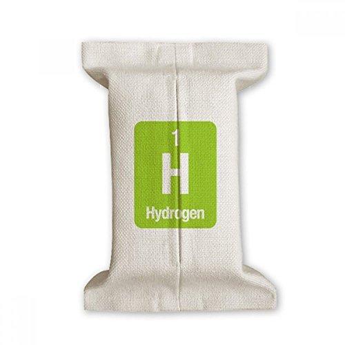 DIYthinker H Waterstof Chemische Element Wetenschap Tissue Paper Cover Katoen Linnen Houder Opslag Container Gift