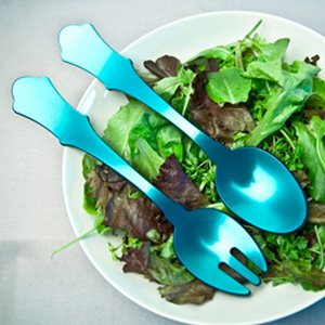 Sabre Old Fashioned Turquoise Salad Set Small