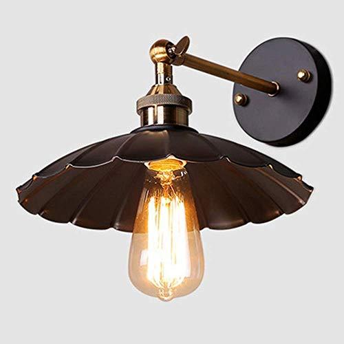 GaLon Wandlamp, draaibaar, wandlamp, rustiek, van metaal, retro-stijl, industriële Edison Loft, wandlamp, vintage, decoratie voor slaapkamer, thuisbar, hal, slee