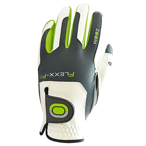 Zoom-Tour Flexx-Fit Golf-Handschuh MLH - Weiß/Charcoal/Lime - Pack of 1
