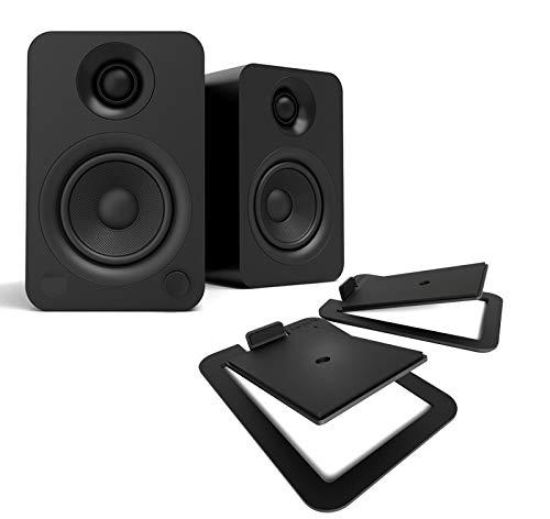 Best Deals! Kanto YU Powered Bluetooth Bookshelf Speakers Bundle with Kanto S4 Desktop Speaker Stand...
