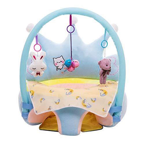 UNCTAD Infant Learning Sitz Stuhl Weich und bequem Mit ergonomischer Rückenlehne - Kann Spielzeug aufhängen weiches Sofa für Privathaushalte, Ausbildungseinrichtungen, Spielplätze uswblue