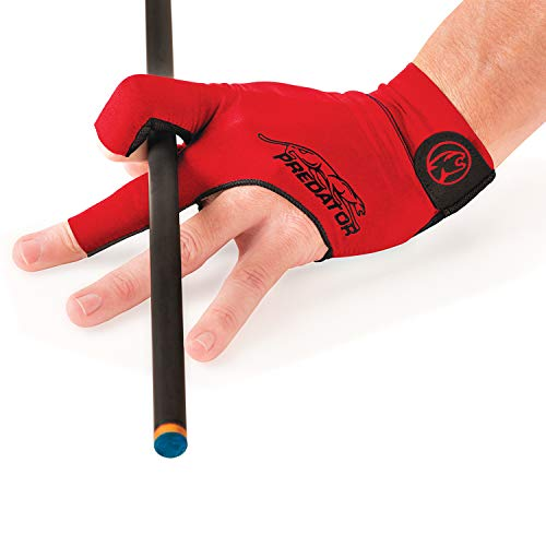 Predator Second Skin Billiard Glove Red: Fits Left Bridge Hand (Small/Medium)