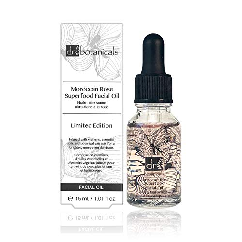 Dr Botanicals Limited Edition Marocain Rose Superfood Facial Huile 15 ml