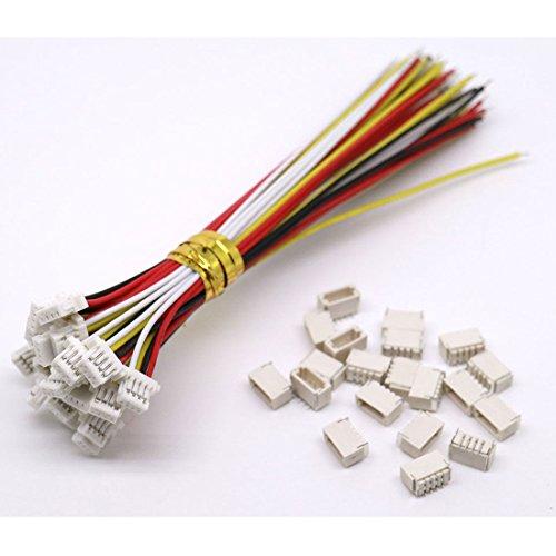 10 Sets Mini Micro Sh 1,0 Jst 4 Pin-Stecker-Stecker männlich mit 100 mm Kabel & Female