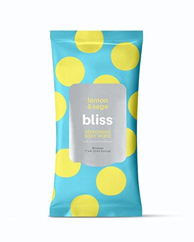 Bliss – Lemon & Sage Refreshing Body Wipes   Plant-Based, Aluminum Free, <a href=