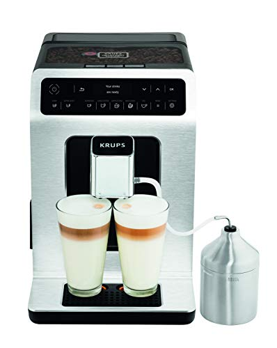 41JbKTksfpL - Krups EA891D27 Evidence Automatic, Espresso, Bean to Cup, Coffee Machine, 1450 W, 2.3 liters, Metal