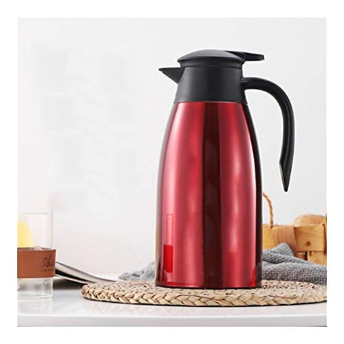 2L roestvrij staal Koffiepot for keuken Insulation Drink Water Bottle Thermose Kettle Jug Thermosfles Cup Thermal Pots (Capacity : 1.6 2L, Color : 4)