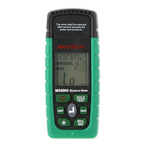 Andoer Mini Mastech MS6900 Professional Digital-humidité compteur bois/béton/Lumber bâtiments testeur d'humidité avec écran LCD