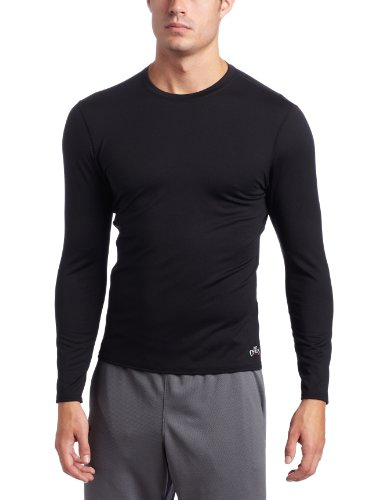 Hot Chillys Men's Micro-Elite Chamois Crewneck - Available in Can (Black, X-Large)
