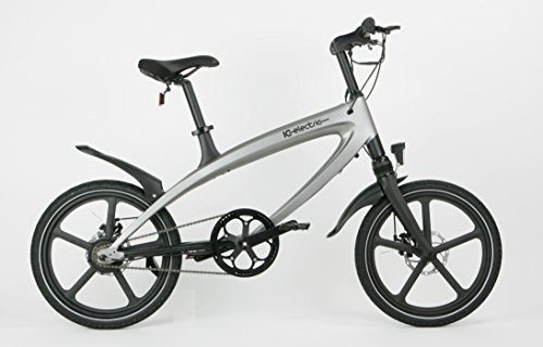 IC Electric ALFA Electric Bicycle, Silver, One Size.