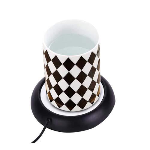 Calentador de taza de café USB de 5 W para escritorio, preservación del calor de 131 ° F/55 ° C y calentamiento rápido para uso doméstico en la oficina(Negro)