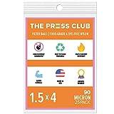 90 Micron | Premium Nylon Tea Filter Press Screen Bags | 1.5' x 4' | 25 Pack | Zero Blowout Guarantee | All Micron & Sizes Available
