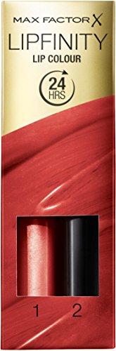 Max Factor Lipfinity Lip Colour Confident 115 – Kussechter Lippenstift mit 24h Halt ohne auszutrocknen, mit intensiver Farbabgabe, präzisem Applikator & intensiv pflegendem Gloss-Top Coat