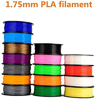 XUSUYUNCHUANG For MakerBot/RepRap/UP/Mendel 3d printer filament PLA1.75mm 1kg plastic Rubber Consumables Material (Color : TURQUOISE)