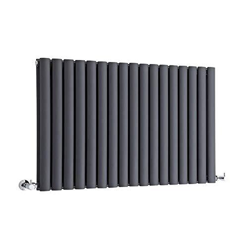 Hudson Reed Radiador Revive Horizontal con Calefacción de Diseño Moderno - Acabado Antracita - Diseño de Columna - 635 x 1000mm - 1584W - Calefacción