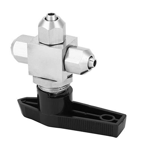 Qqmora Válvula de Bola giratoria Válvula de Flujo Válvula de Bola de Control de Flujo de 3 vías para Herramientas neumáticas para tubería de Agua(Diameter 8 * 5)