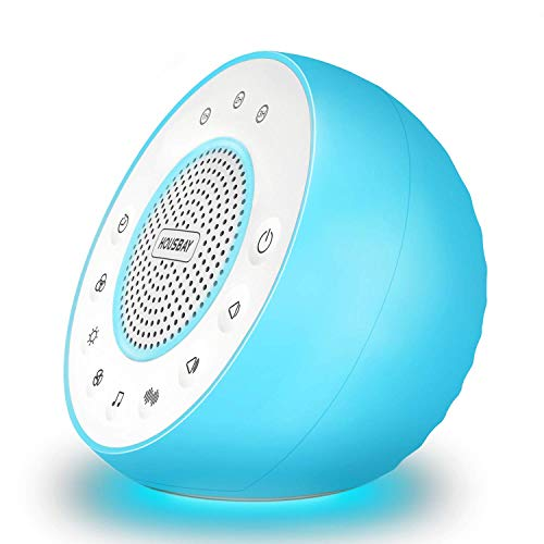 Housbay Glows White Noise Sound Machine - Night Light for Baby, Kids, 31 Soothing Sounds for Sleeping, Relaxation - Sleep Machine for Adults, Baby