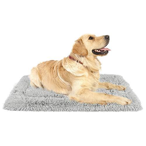 G.C Cama Antiestres Perro Grande Mediano Pequeño, Colchonetas para Perros Gatos Relajante Lavable Colchón Suave Cojín de Felpa para Mascotas Manta Perro L(115 x 71 cm)