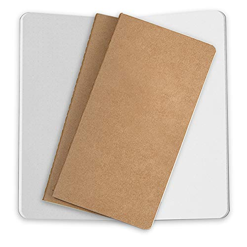 Notizbuch-Nachfüllungen, Notizbuch Einsätze, 3er Set Papier für Leder Reisejournale, Nachfüllbare Tagebücher 21x11cm für Reisetagebücher Notizheft Travelers Notebooks - Weiß Punktiert
