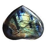 XeinGanpre Natureis - Piedra de ágata blanca para curación espiritual, labradorita, cuarzo curativo, forma de corazón (C (20-30 mm)