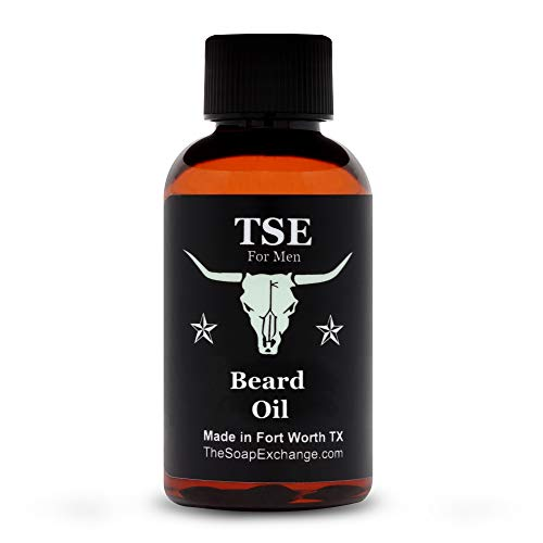 TSE for Men Beard Oil - Sandalwood Vanilla Scent - Hand Crafted 2 fl oz / 60 ml Deep Conditioner, Nourishing Softener, Natural Ingredients, Stop Itching, Made in the USA.