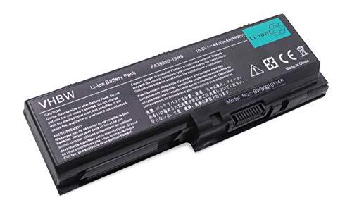 vhbw Li-ION Batterie 4400mAh (11.1V) pour Ordinateur Portable, Notebook Toshiba Equium P200 comme PABAS100, PABAS101.