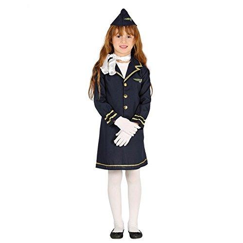 Fiestas Guirca Kostüm stewardesse mädchen grÖsse 7-9 Jahre
