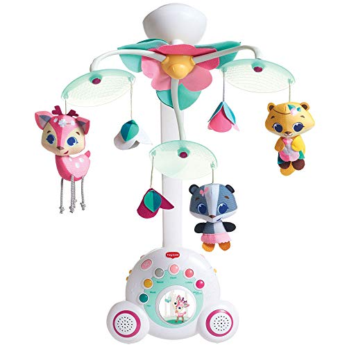 Tiny Love Soothe'n Groove Carrusel cuna rosa, Movil musical cuna se convierte en caja musical independiente, 40 minutos de musica 18 melodias, Tiny Princess Tales