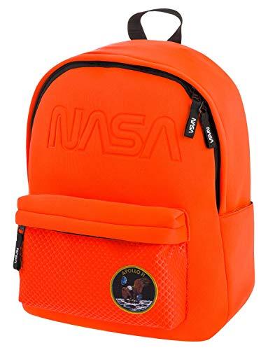NASA Freizeit Rucksack Jungen Mädchen Teenager Herren, Leichter Tagesrucksack Sportrucksack Schulrucksack für Studenten und Jugendliche (Orange)